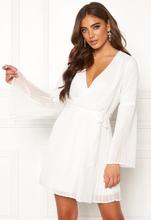 BUBBLEROOM Paulinn pleated dress White 36