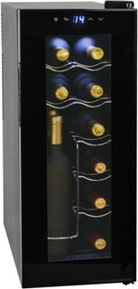 vidaXL Vinkjøler 35 L 12 flasker LCD-skjerm