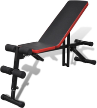 Vidaxl justerbar sit-up-bänk