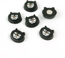 Kitty Cat magneter, 6-pak - køleskabsmagneter