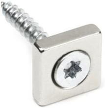 Undersænket powermagnet 15x15x4 mm.