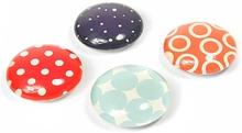 Fashion Magneter, 4-pak - køleskabsmagneter