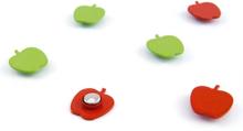 Æble Magneter, 6-pak - køleskabsmagneter
