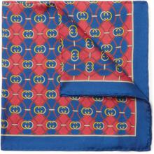 Gucci - Printed Silk-twill Pocket Square - Blue