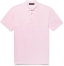 Slim-fit Cotton-piqué Polo-shirt - Pink