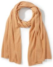 Sjaal zijde en kasjmier Van Peter Hahn oranje