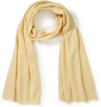 Schal aus Seide und Kaschmir Peter Hahn gelb