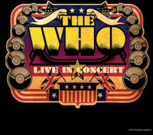 The Who: Single Cork Coaster/Live in Concert