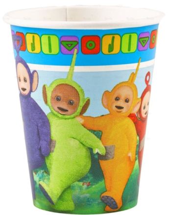 8 stk Pappkrus 266 ml - Teletubbies