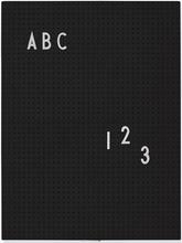 Design Letters - Design Letters Opslagstavle A4, Sort