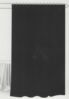 Badeforhæng - Sort - 180x180 cm. - Inklusiv 12 plastik ringe - Klar til ophæng