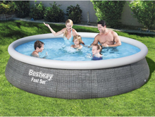 Bestway oppusteligt poolsæt med pumpe Fast Set 396x84 cm