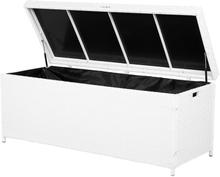 Pehmustelaatikko 158 x 63 cm polyrottinkinen valkoinen MODENA