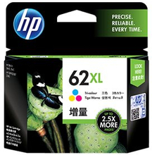 HP 62XL - Høy ytelse - farge (cyan, magenta, gul) - original - blekkpatron - for Envy 55XX, 56XX, 76XX; Officejet 200, 250, 252, 57XX, 8040