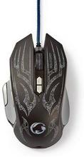 Nedis gaming mus | Trådanslutning | Belyst | 4000 DPI | 9 knappar