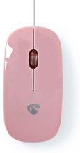 Nedis Trådbunden mus | 1 000 DPI | 3 knappar | Rosa