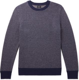 Wool-blend Sweater - Navy