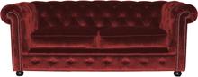 Kronan 3-sits soffa Juke bordeaux