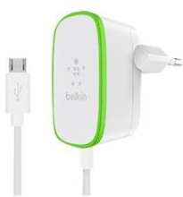 Belkin Home Charger (12W/2.4A) with Hardwired Micro-USB Cable 1.8m White /F7U009vf06-WHT