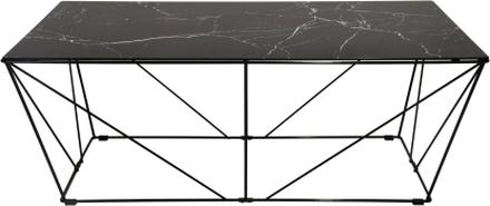 Cube soffbord svart marmorfolie 120 x 60 cm