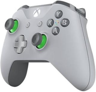 Microsoft Xbox Wireless Controller - Håndkonsoll - trådløs - Bluetooth - grå, grønn - for PC, Microsoft Xbox One, Microsoft Xbox One S, Microsoft Xbo