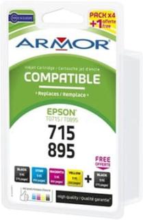 Armor - 4-pack - svart, gul, cyan, magenta - bläckpatron (alternativ för: Epson T0894, Epson T0892, Epson T0891, Epson T0893, Epson T0715, Epson T071