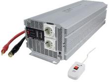 HQ Inverter Modifierad sinusvåg 24 VDC - AC 230 V 4000 W F (CEE 7/3)