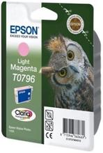 Epson T0796 - 11 ml - lys magenta - original - blære med RF/lyd-alarm - blekkpatron - for Stylus Photo 1500, P50, PX650, PX660, PX710, PX720, PX730,