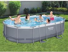 Bestway Power Steel swimmingpoolsæt 488x305x107 cm oval