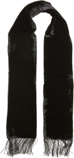 Scarf Velvet/Silk Tørklæde Sort ATLAS DESIGN