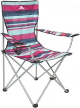 Trespass Branson - Foldbar campingstol med drinksholder - Tropical Stripe