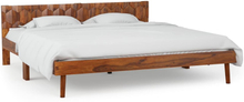 vidaXL Sängram massivt sheshamträ 160x200 cm