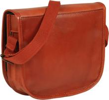 vidaXL Handväska äkta läder tanfärgad