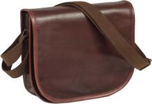 vidaXL Handväska äkta läder brun