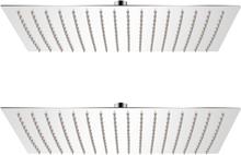vidaXL Regnduschhuvud 2 st rostfritt stål 30x40 cm