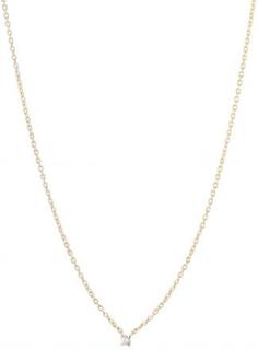Diamond sky drop necklace gold