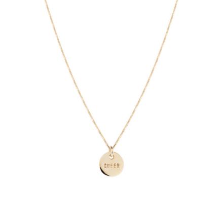 Queen Coin Necklace Bronze