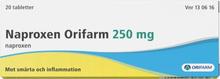 Naproxen Orifarm tablett 250 mg 20 st