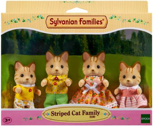 Sylvanian Families Striped Cat Familien #5180