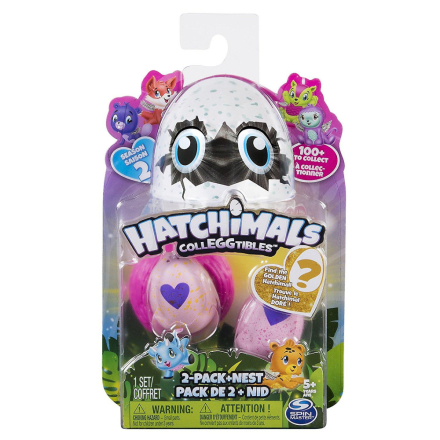 Hatchimals Collegtibles 2 Pack + Nest - sesong 2