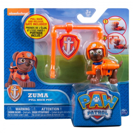Paw Patrol Action Pack Pull Back Pup - Zuma
