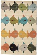 Fugl og fisk matta 160x230 Modern Matta