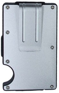 Metal RFID-sikret Kortholder til 6 kort - Sølv
