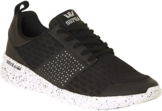 Supra svart-vit-Speckle Scissor sko 8 UK
