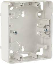 Schneider Exxact Förhöjningsram för infällda vägguttag, vit, 2 fack