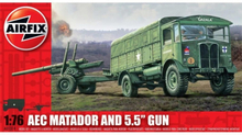 "Airfix AEC Matador and 5.5"" Gun 1:76"