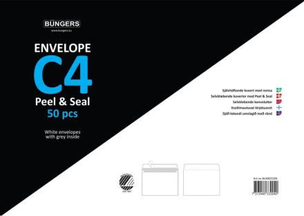 Büngers Kuvert Peel & Seal C4 250 st kuvert