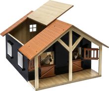Leksaksstall 2 st. stallboxar till hästar Schleich Kids Globe 1:24