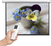 vidaXL elektrisk projektorlærred med fjernbetjening 160 x 123 cm 4:3