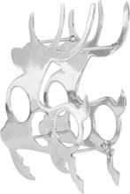 vidaXL Vinställ massiv aluminium 33x14x54 cm silver